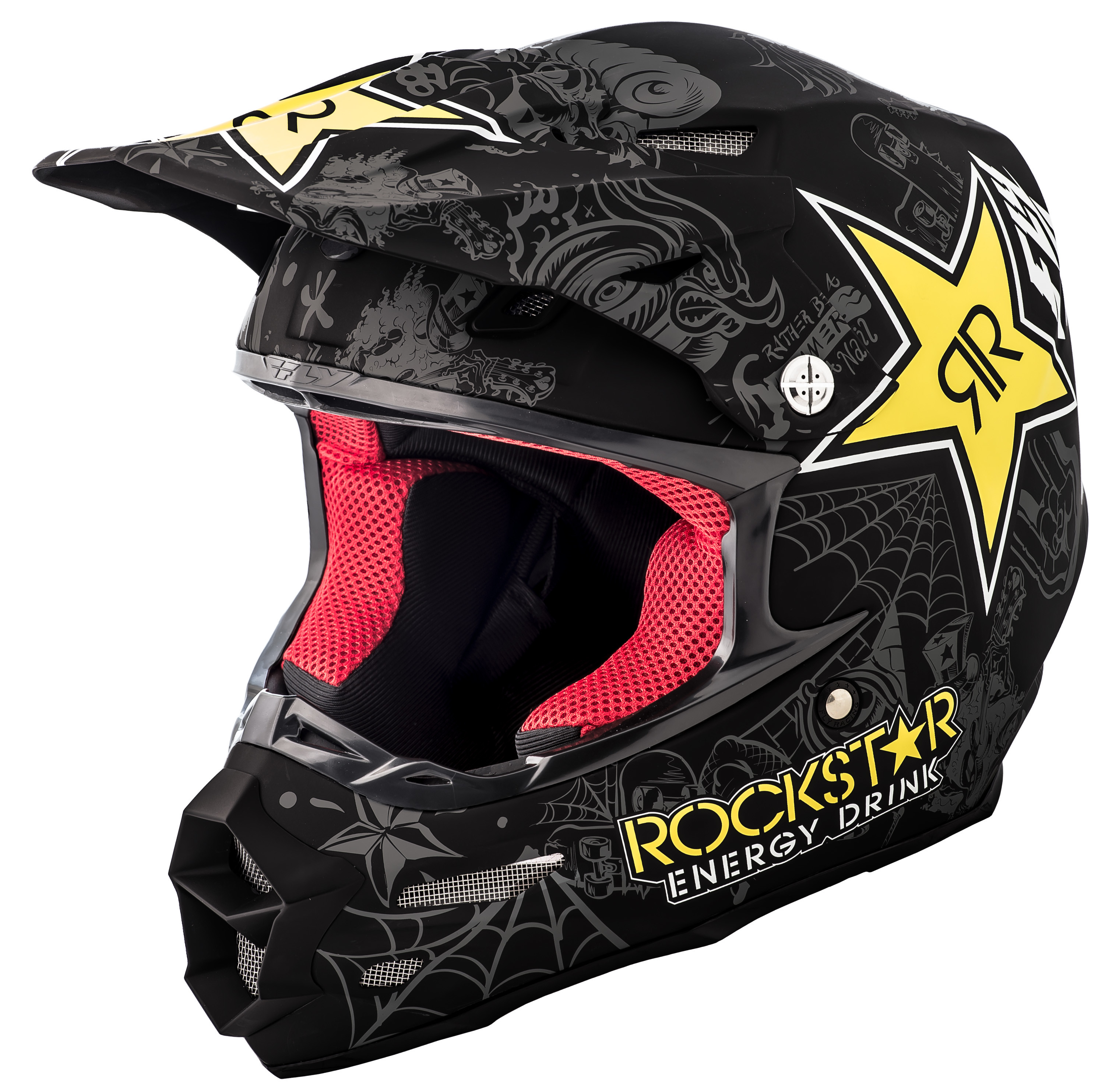 F2 Carbon Rockstar Helmet Matte Black/Charcoal/Yellow 2X