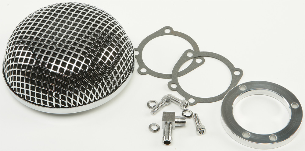 Round mesh air cleaner for Harley motorcycles