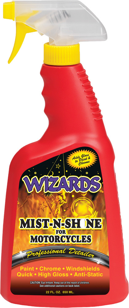 Wizards Mist n Shine Single 22oz Motorcycle Bike Spray Bottle for Harley