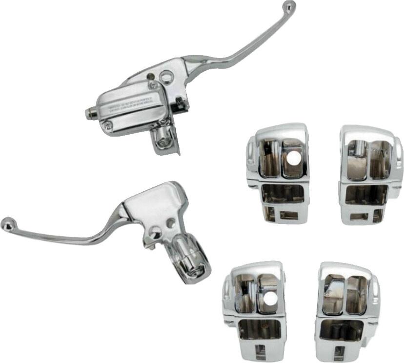 Harddrive Chrome Handlebar Cable Control Kit 08-16 Harley Touring FLHX FLHR FLHT