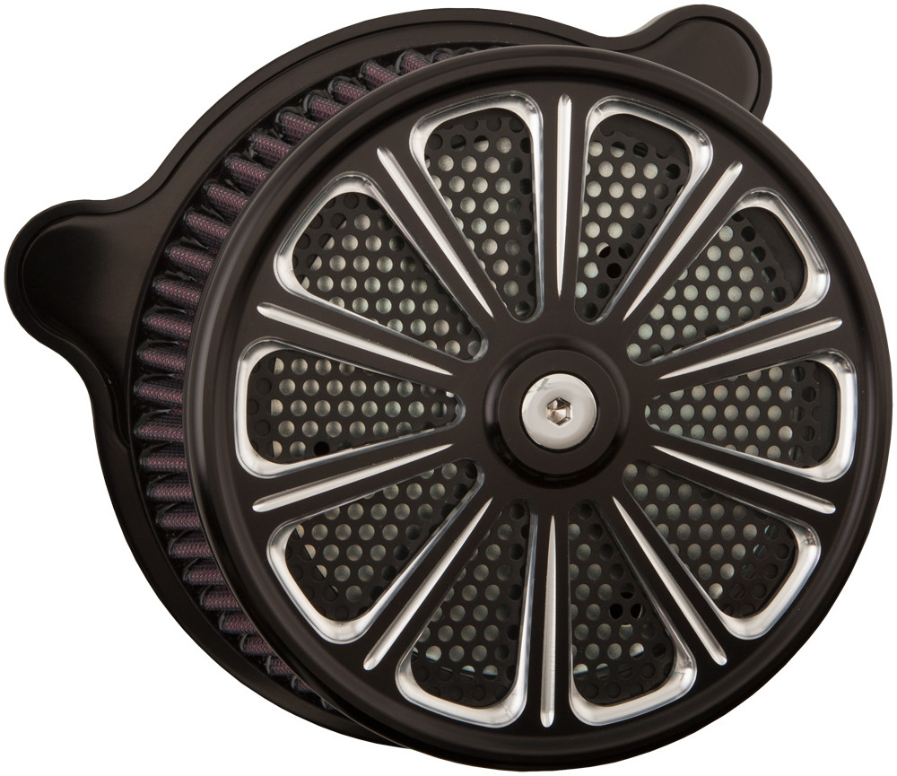 Harddrive Luck TBW Black Air Cleaner Filter Kit 08-17 Harley Softail Touring