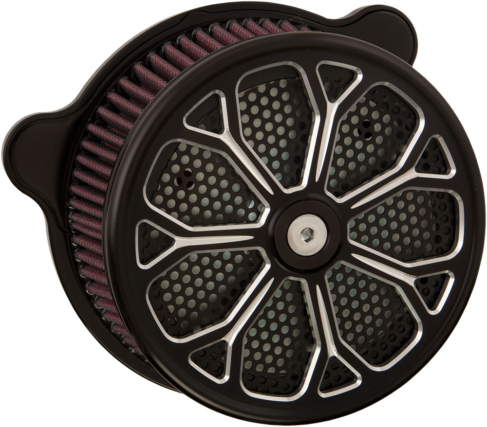 Harddrive Revolver Black Twin Cam Evo Air Filter 91-17 Harley Softail Touring