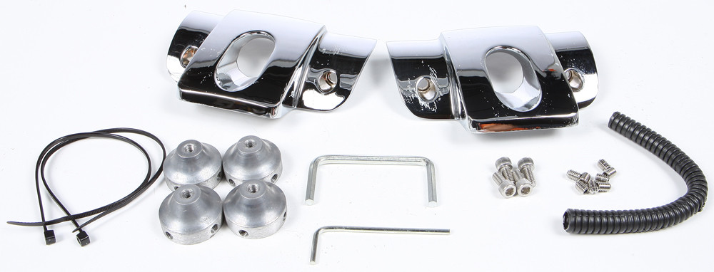 Harddrive Chrome Motorcycle Head bolt Covers 99-17 Harley Dyna Touring Softail