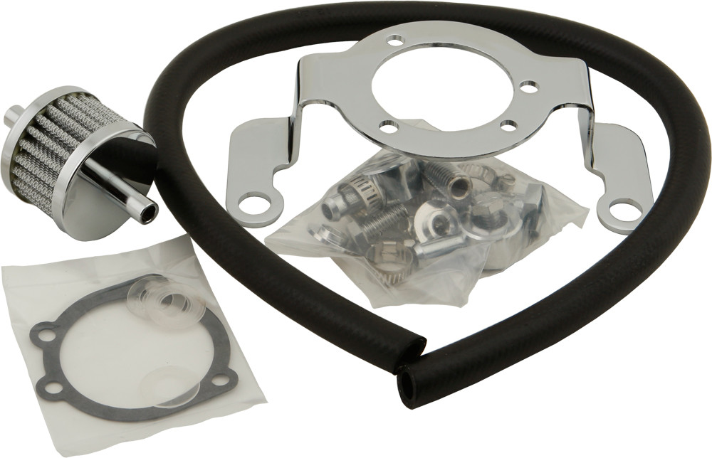Harley breather and bracket kit - EVO big twin