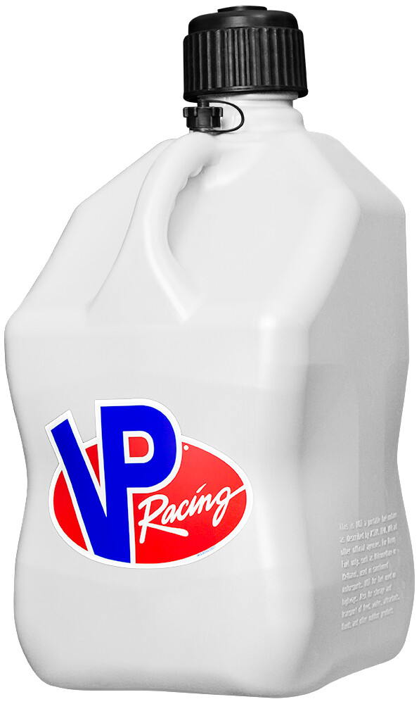 VP Racing 5 Gallon White Motorcycle UTV ATV Offroad MX Racing Fuel Container