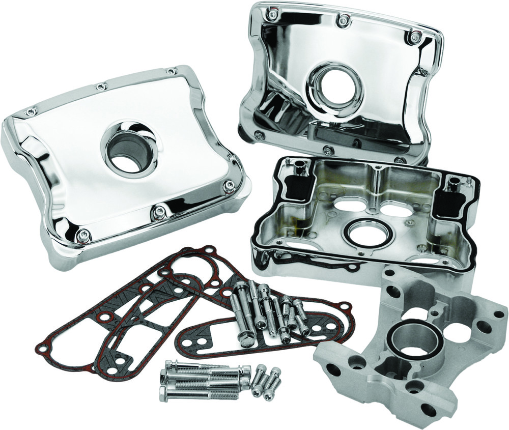Harddrive Chrome Motorcycle Rocker Box Kit 84-99 Harley Dyna Touring Softail
