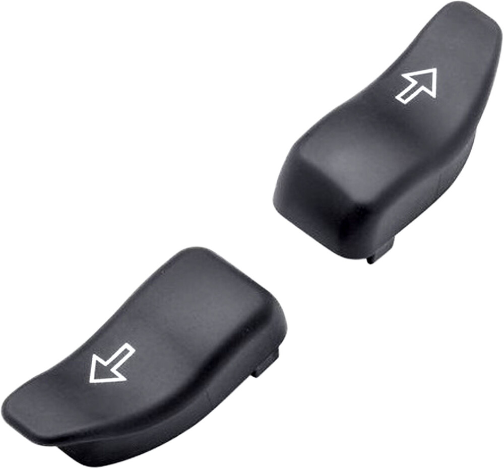 Harddrive Black Handlebar Turn Signal Cap Extensions 16-20 Harley Touring FLHX