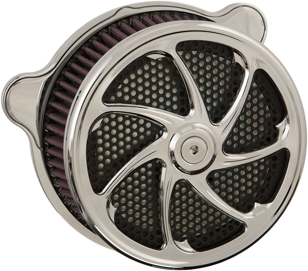 Harddrive Flow Chrome TBW Air Cleaner Filter Kit 08-17 Harley Touring Softail