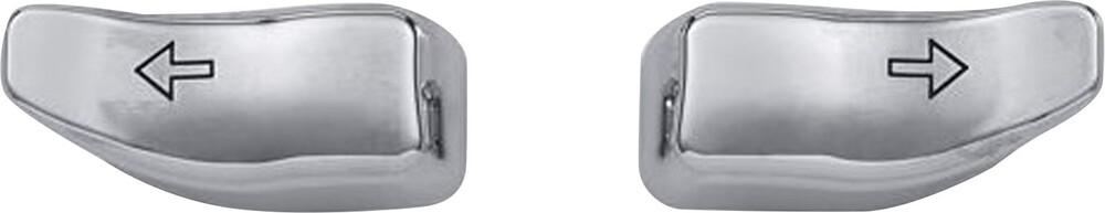 Harddrive Chrome Handlebar Turn Signal Cap Extensions 14-20 Harley Touring FLHT