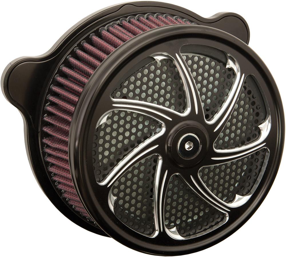Harddrive Flow Black TBW Air Cleaner Filter Kit 08-17 Harley Touring Softail