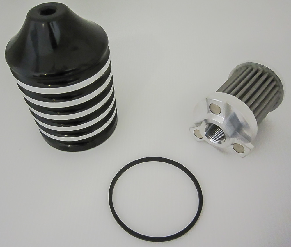 Billet black oil filter for Harley motorcycles