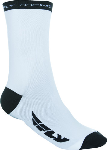 Large//X-Large White Fly Racing Crew Socks