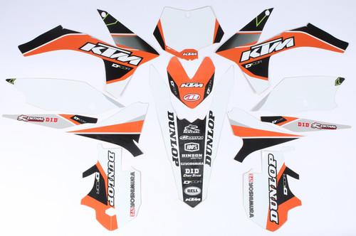 Ktm Raceline Graphics Complete Kit  White 862-3201