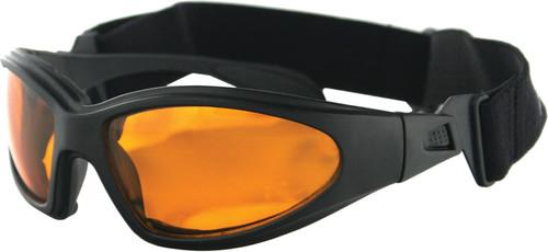 GXR SUNGLASSES BLACK W/AMBER LENS