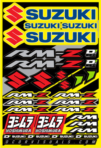 "Decal Sheet Suzuki Rmz 12""X18"" 862-41100"