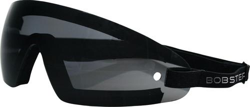 WRAP AROUND SUNGLASSES BLACK W/SMOKE LENS