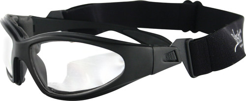 GXR SUNGLASSES BLACK W/CLEAR LENS