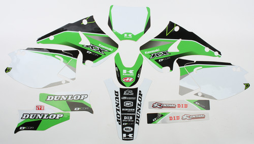 Kawasaki Raceline Graphics Complete Kit White 862-2201