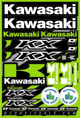 """Kawasaki Decal Sheet 12""""X18"""" 862-21100"""