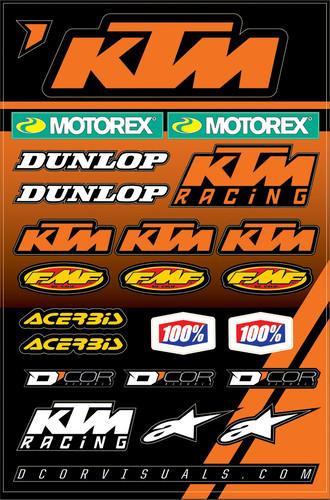 Ktm 2 Decal Sheet 862-30102