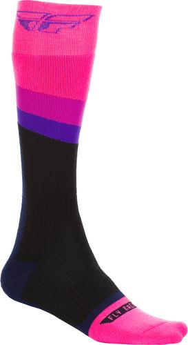 Black, Large - X-Large Fly Racing Shorty Socks Black//White