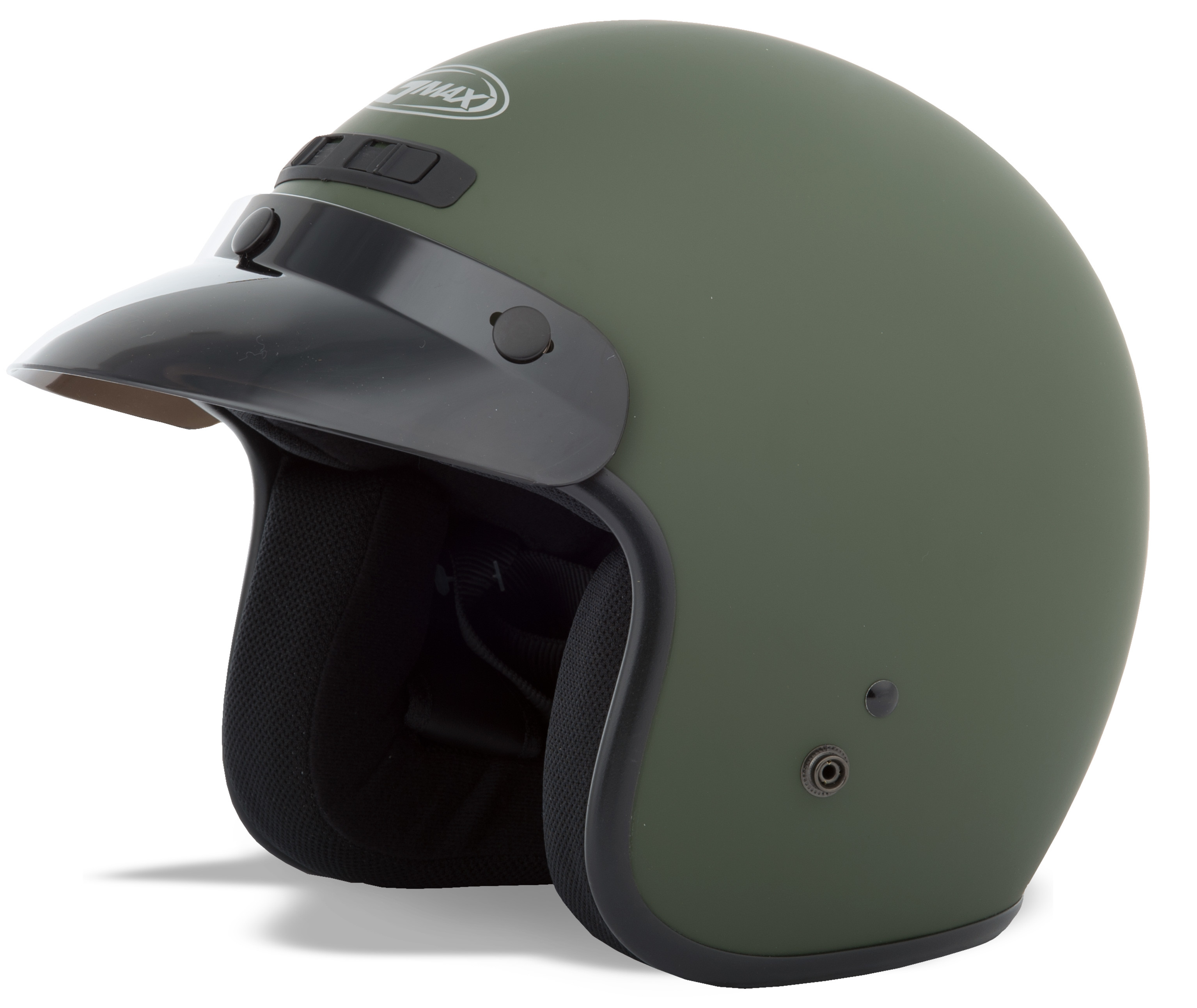 YOUTH GM-2 Open-Face Helmet,  Matte GREEN 72-5358YL
