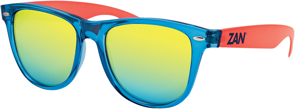 Throwback Minty Sunglasses Blue/Orange W/Smoke Yellow