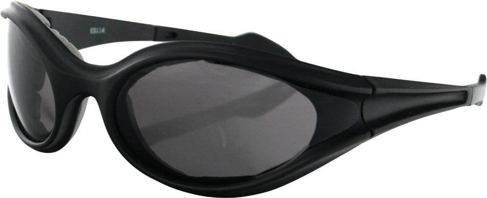 FOAMERZ SUNGLASSES BLACK W/SMOKE LENS