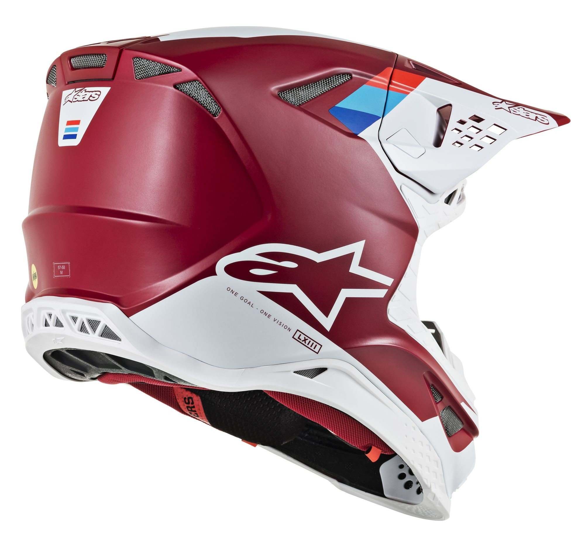 SUPERTECH M-8 Contact Helmet,  Dark RED WHITE 482-91062X