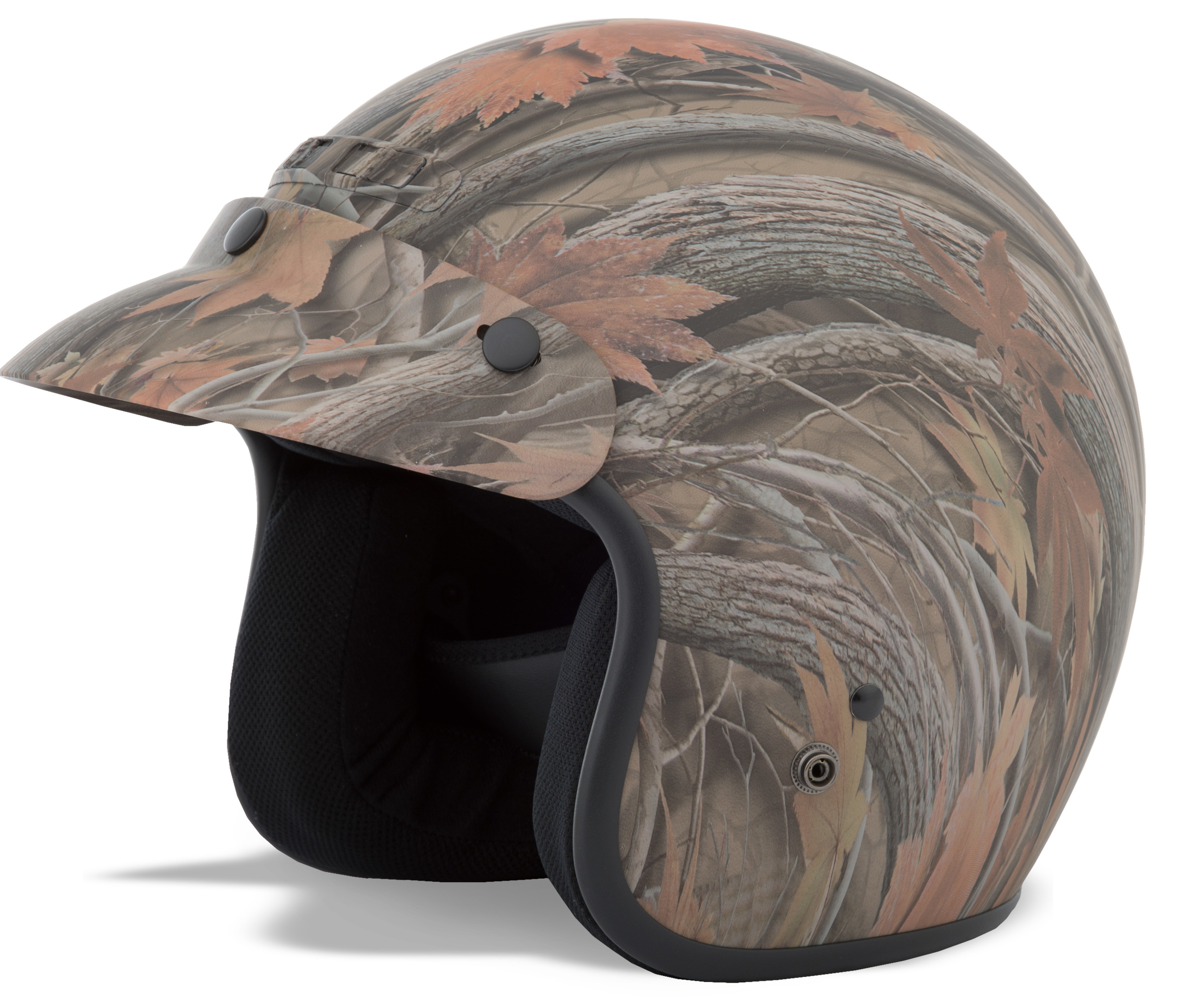 YOUTH GM-2 Open-Face Leaf,  Camouflage HELMET 72-5356YL