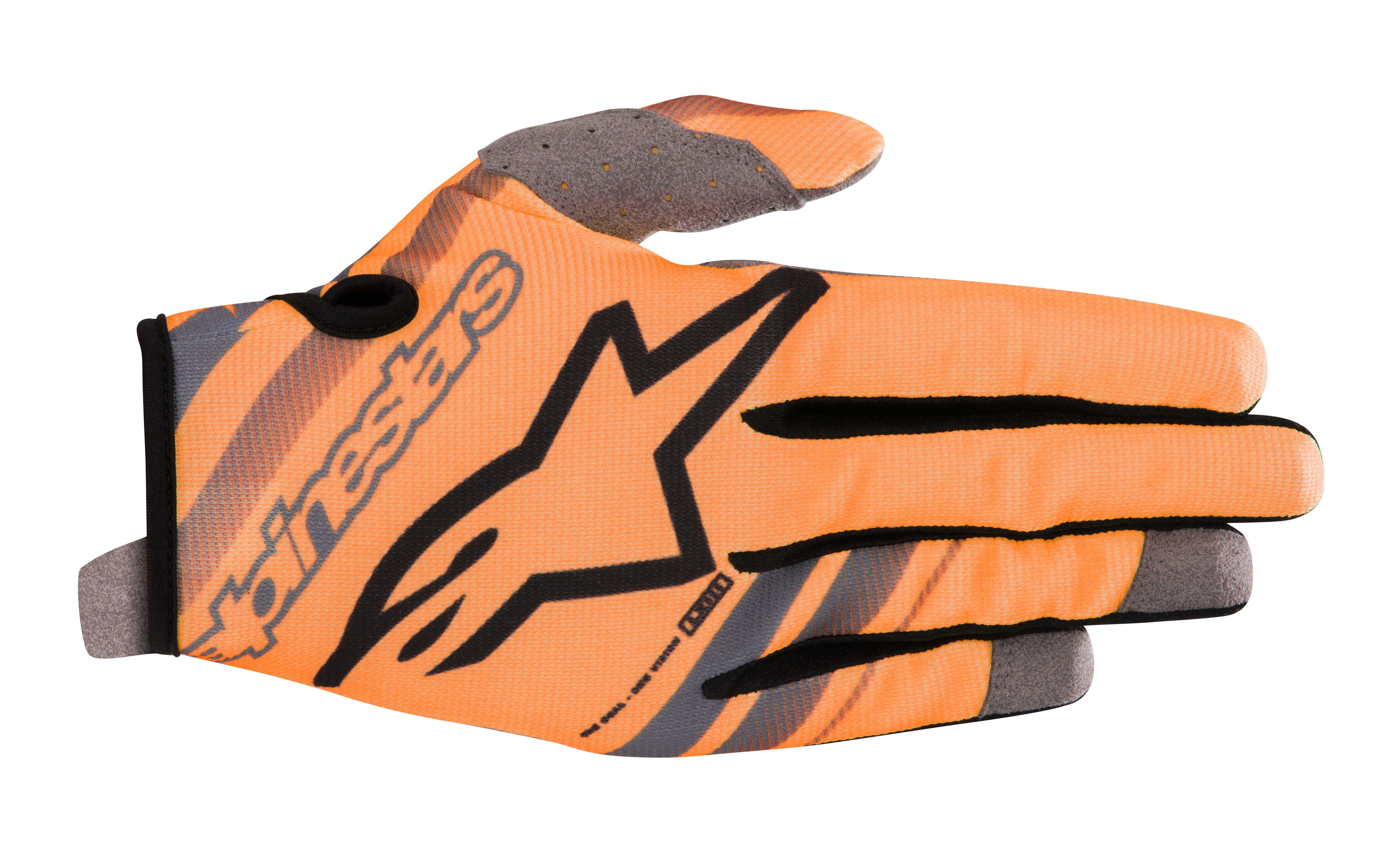 YOUTH RADAR GLOVES ORANGE/BLACK Y3XS