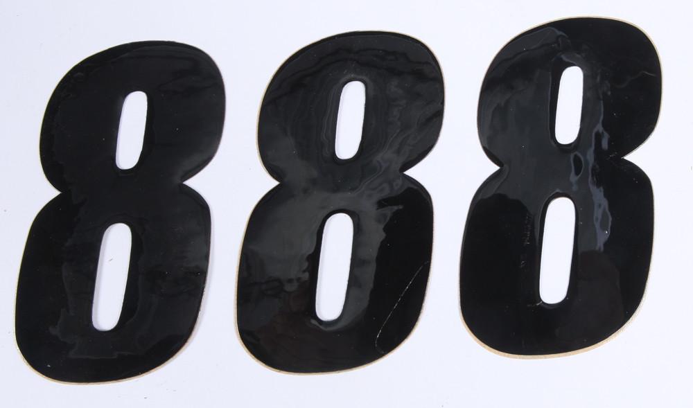 Number 8 Black 4