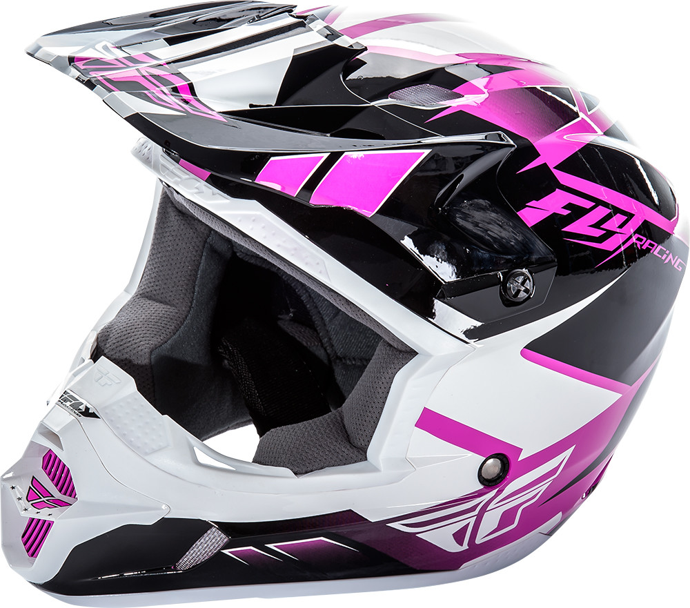 KINETIC IMPULSE Helmet Pink Black White,  YL  73-3369YL