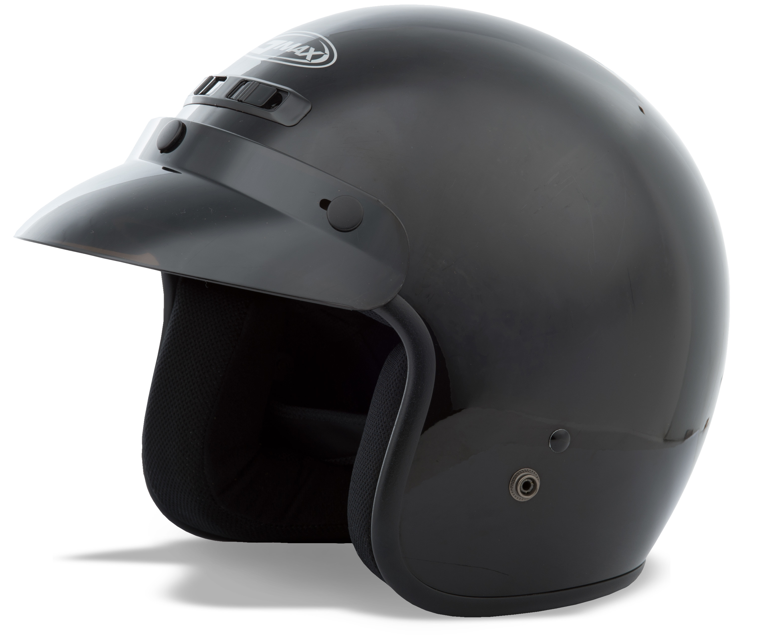 YOUTH GM-2 Open-Face Helmet,  Black YL-YX 72-5350YL