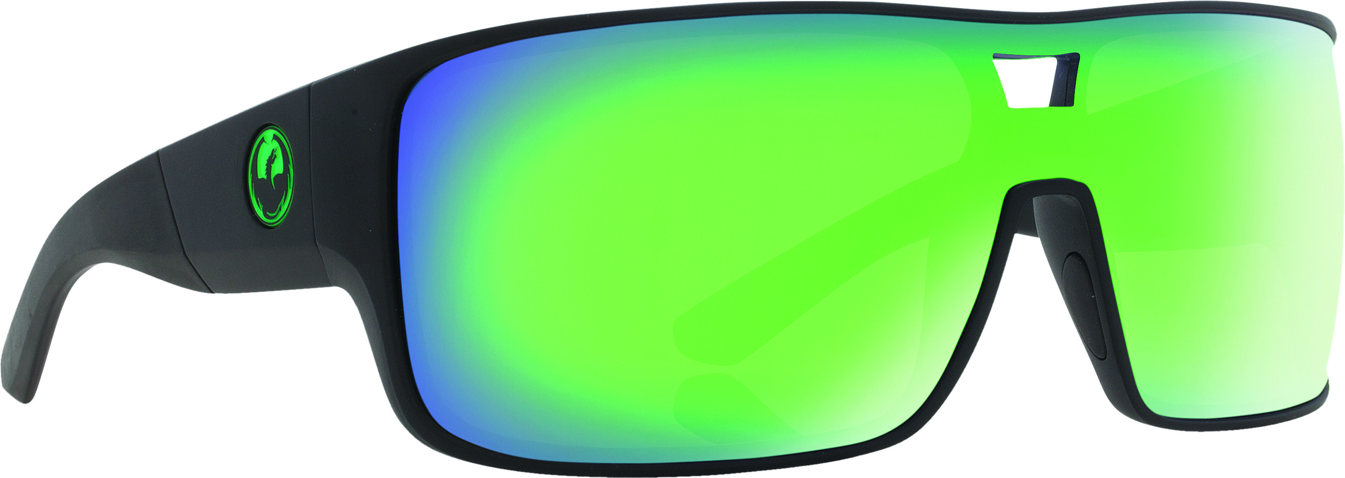 7326eef755 Hex Sunglasses Matte Black, with Green Ion Lens