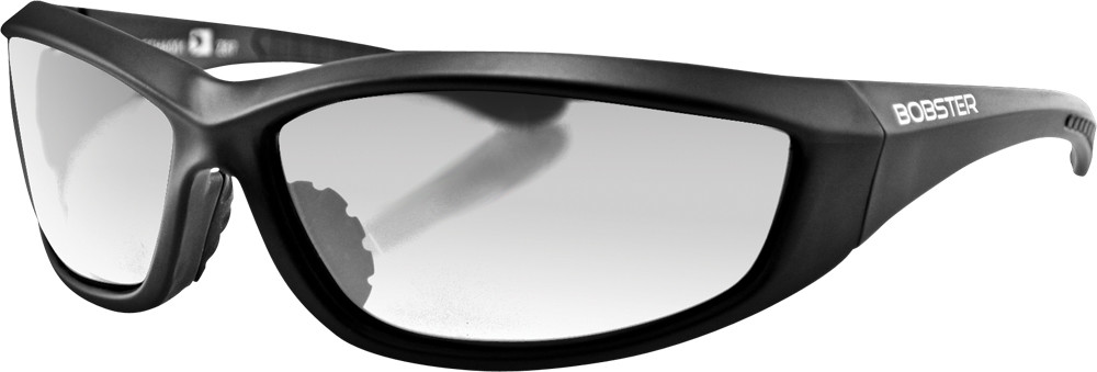 CHARGER SUNGLASSES BLACK W/CLEAR LENS