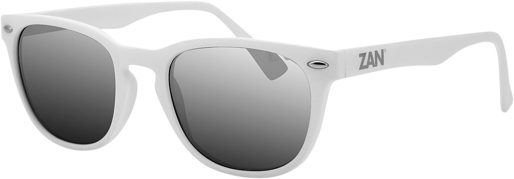 Throwback Nvs Sunglasses Matte White W/Smoke Refl Lens