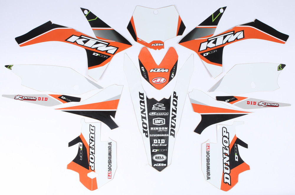 Ktm Raceline Graphics Complete Kit  White 862-3201