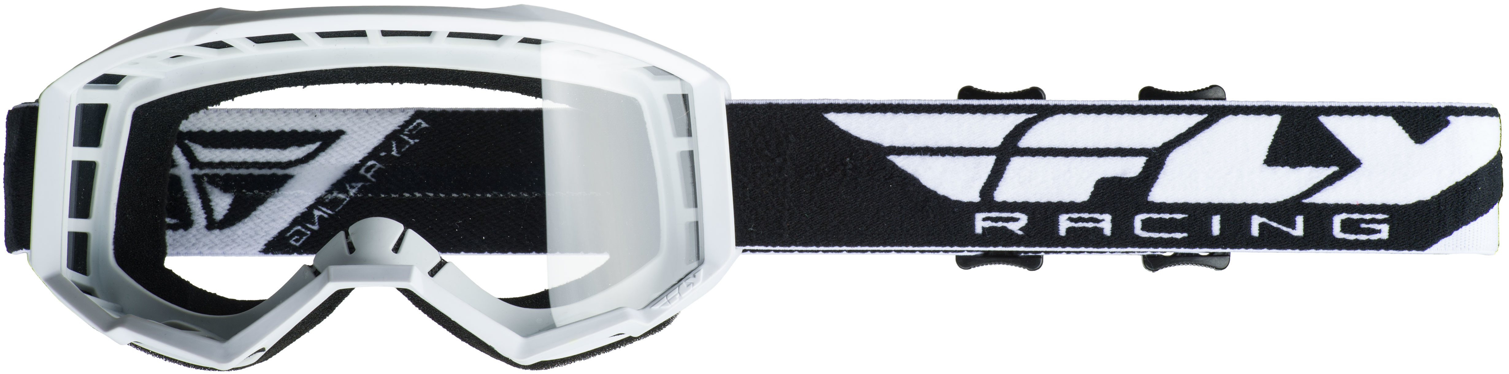 2019 Focus Goggle White W/Clear Lens