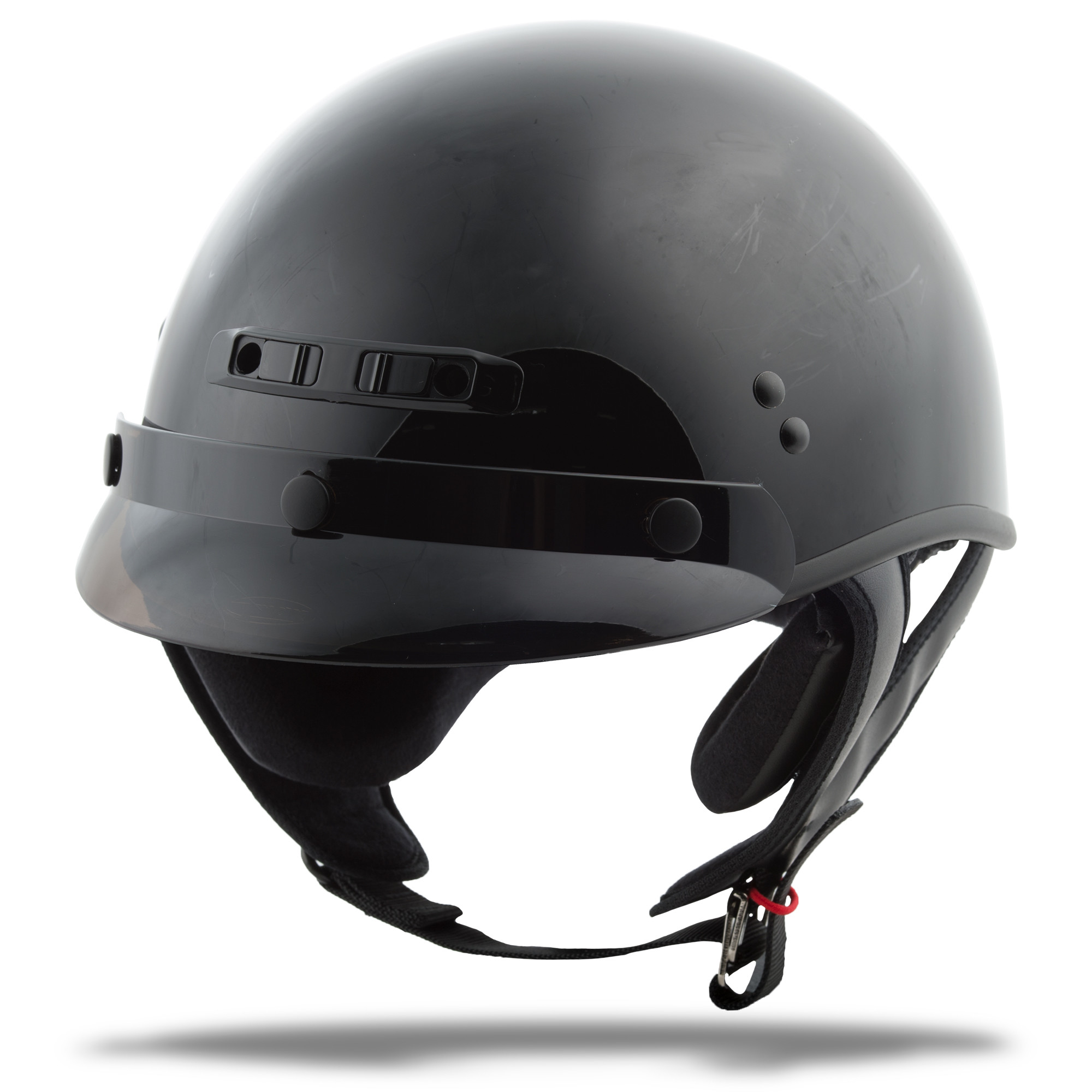 GM-35 HALF Helmet Full,  Dressed BLACK 72-5420L