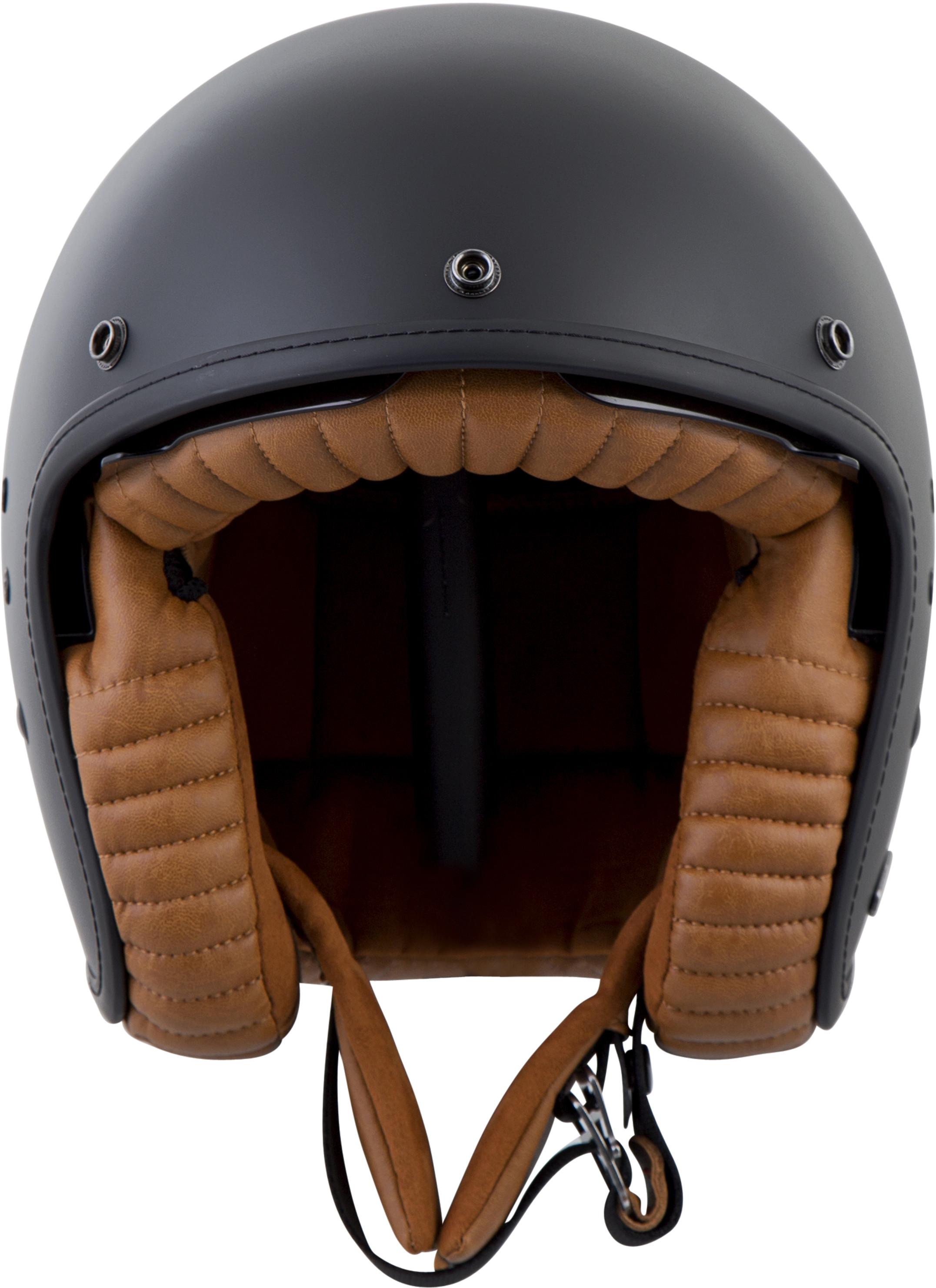 BELFAST OPEN-FACE Solid Helmet,  Matte BLACK 75-1610M
