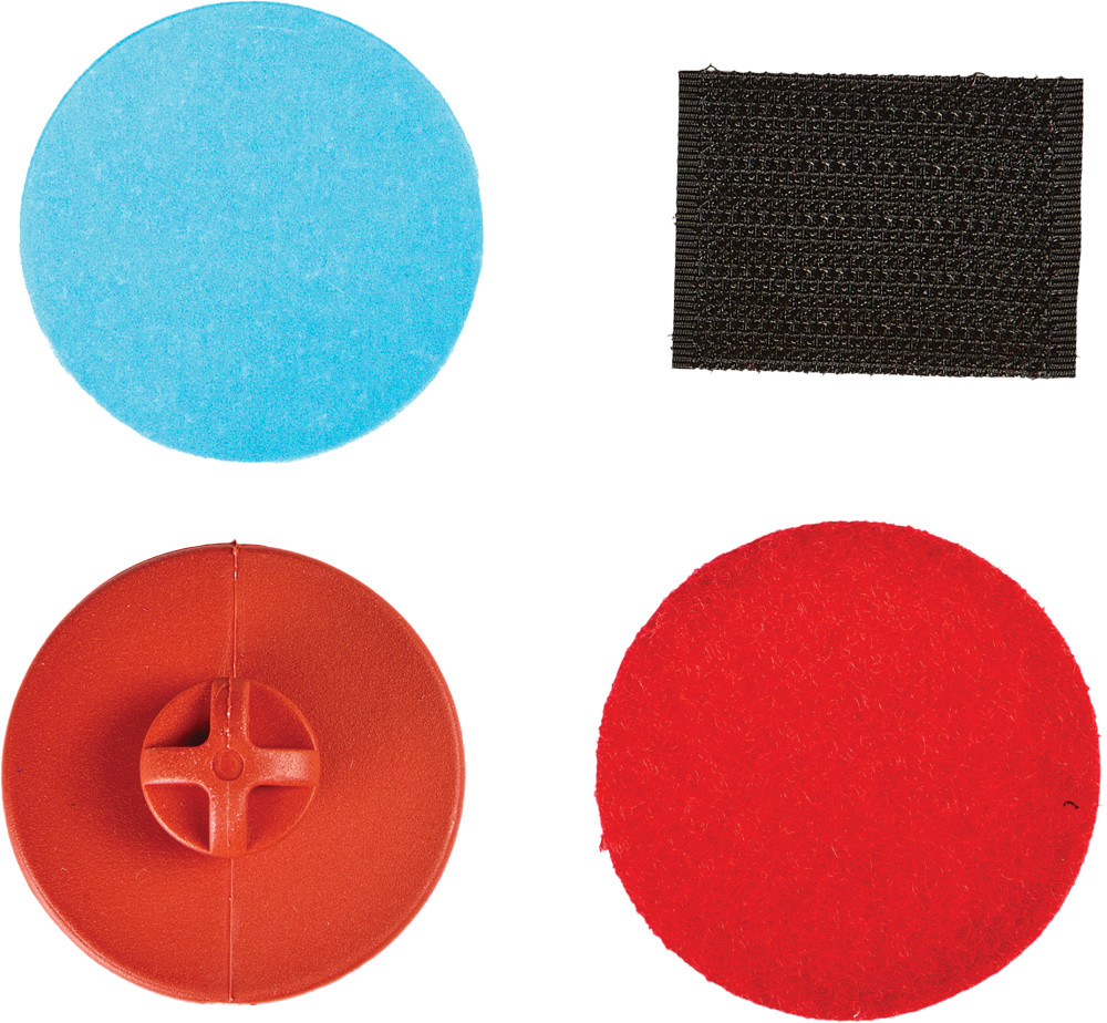 STICK-ON BUTTON KIT RED