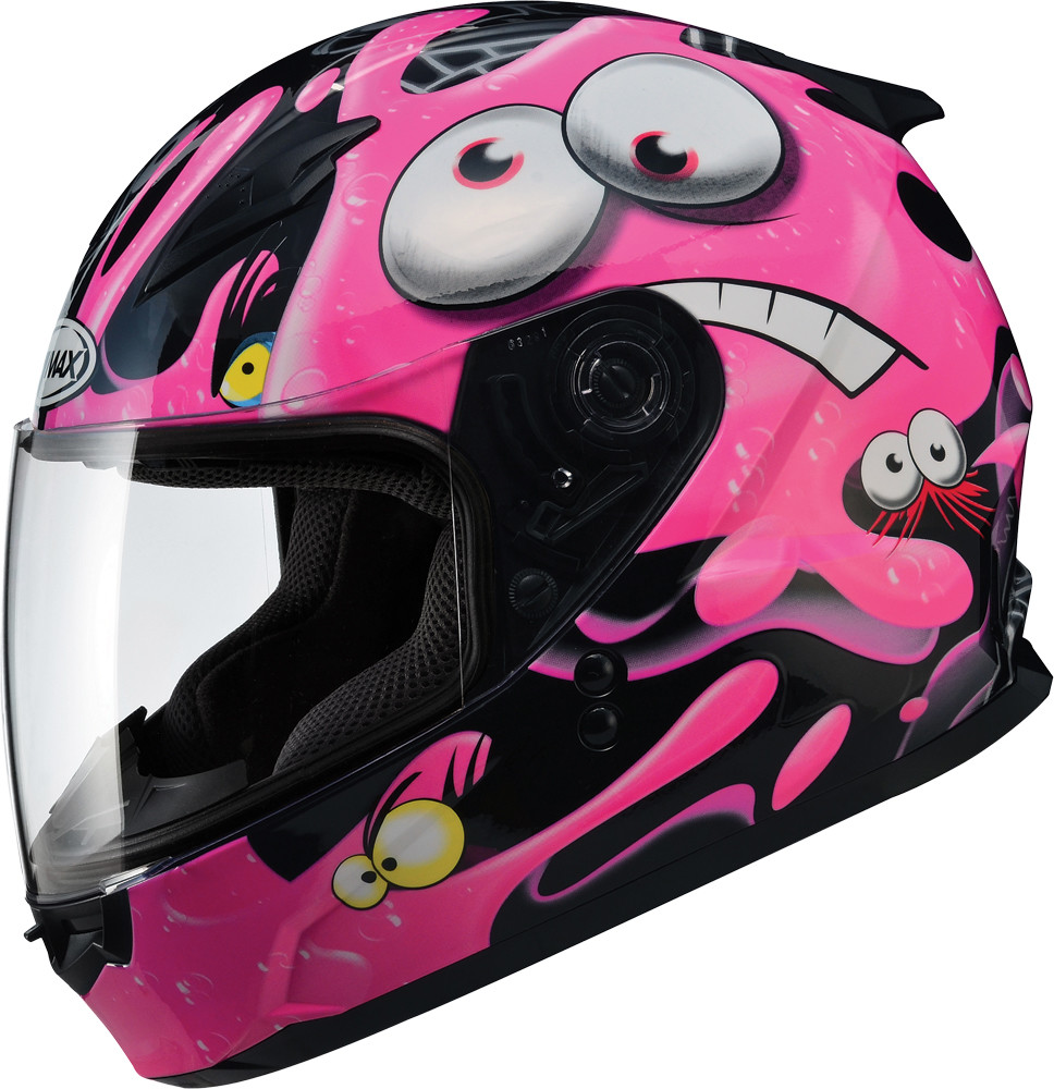 GM-49Y FULL Face Helmet,  Slimed BLACK PINK 72-4948YS