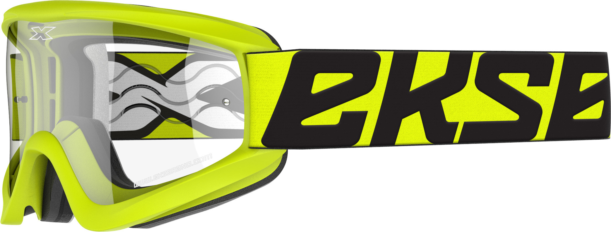 FLAT-OUT GOGGLE FLO YELLOW W/CLEAR LENS
