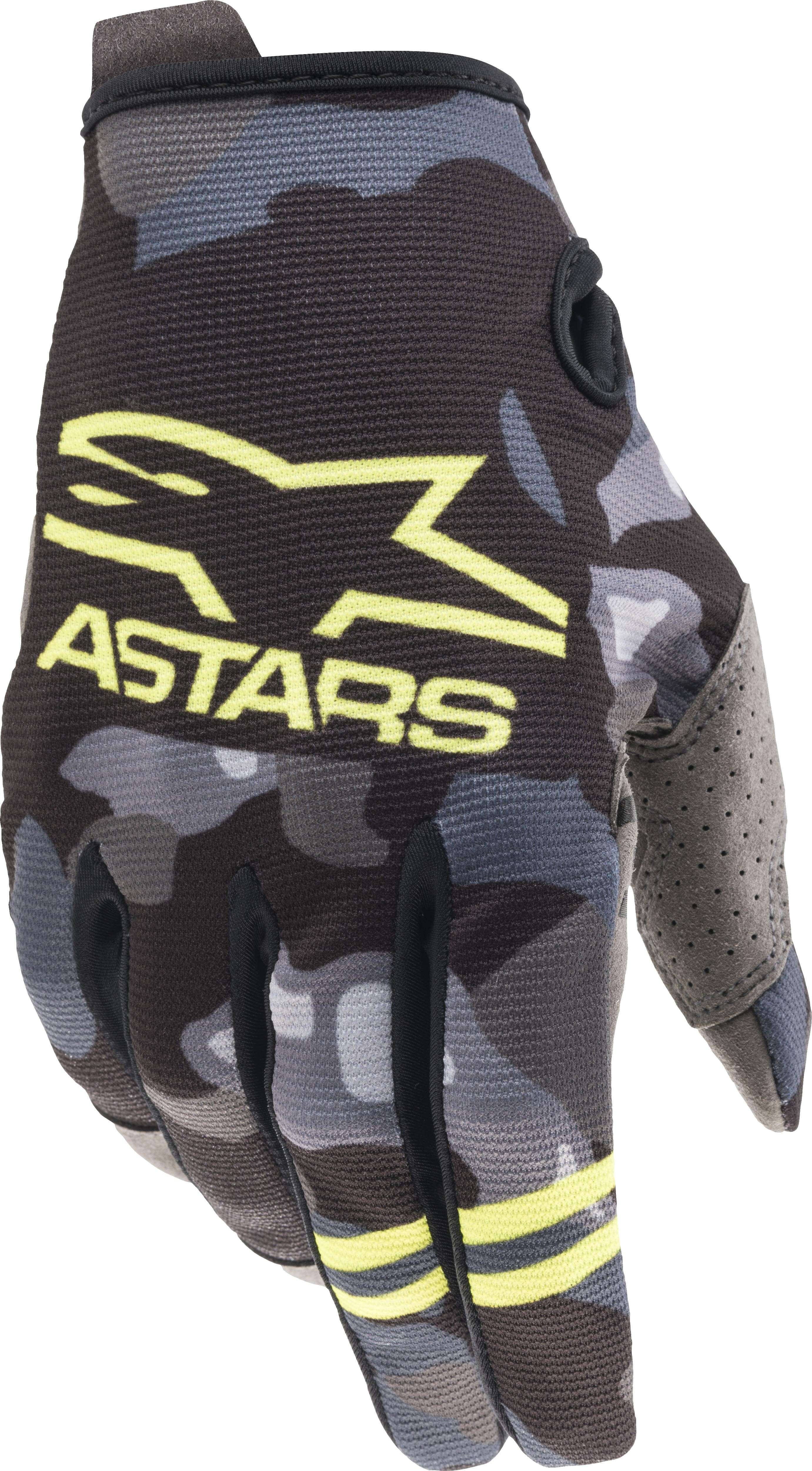 YOUTH RADAR GLOVES GREY CAMO/ YELLOW FLUO LG