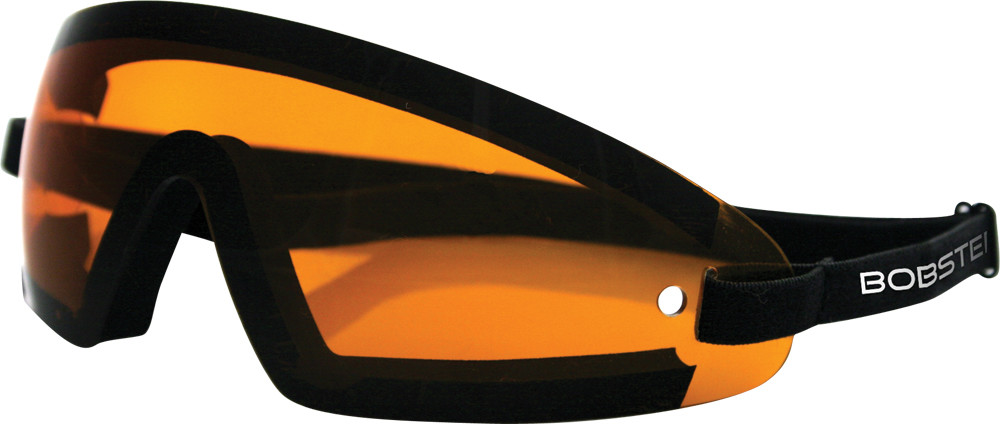 WRAP AROUND SUNGLASSES BLACK W/AMBER LENS