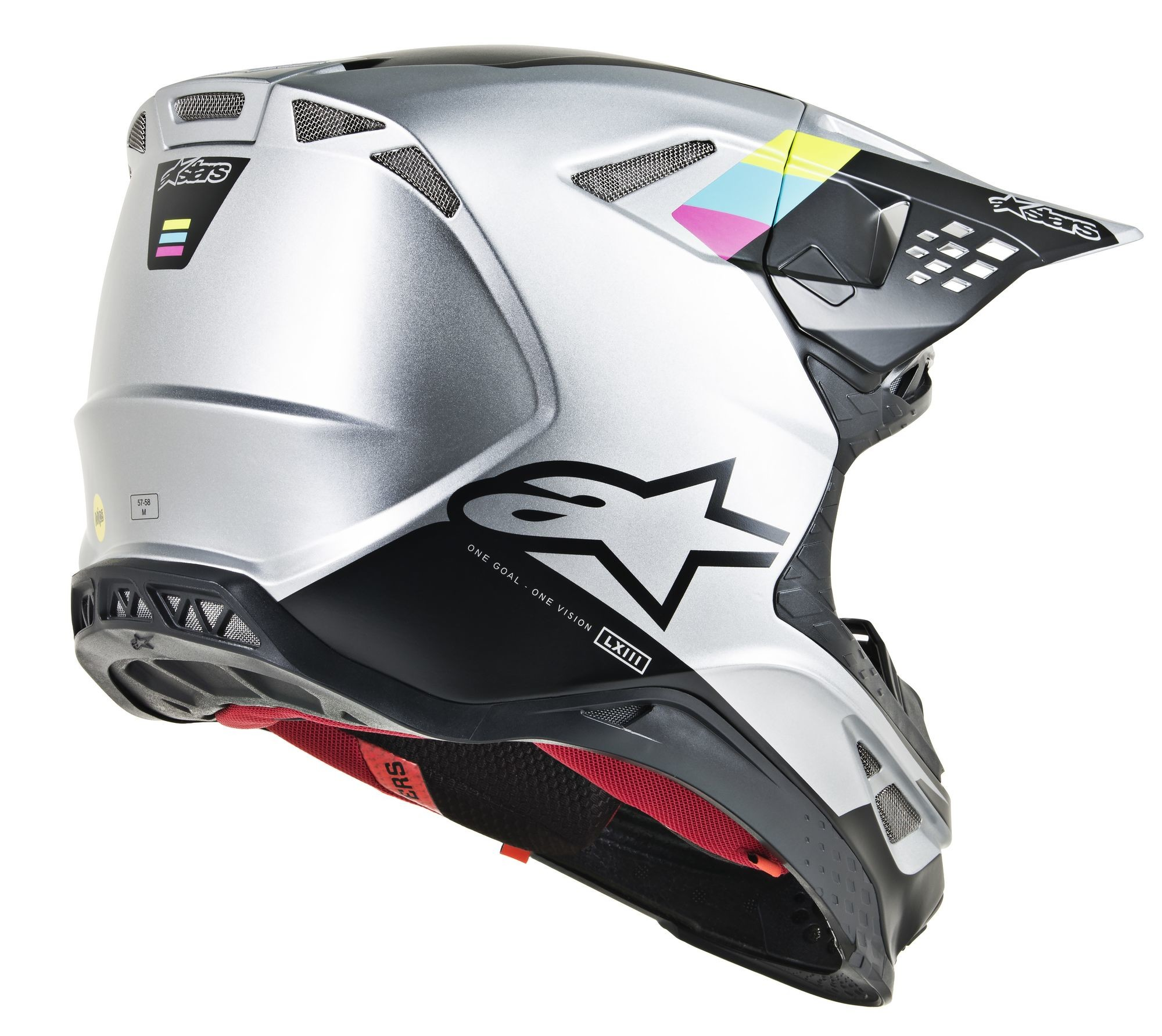 SUPERTECH M-8 Contact Helmet,  Silver Black 2X 482-91052X