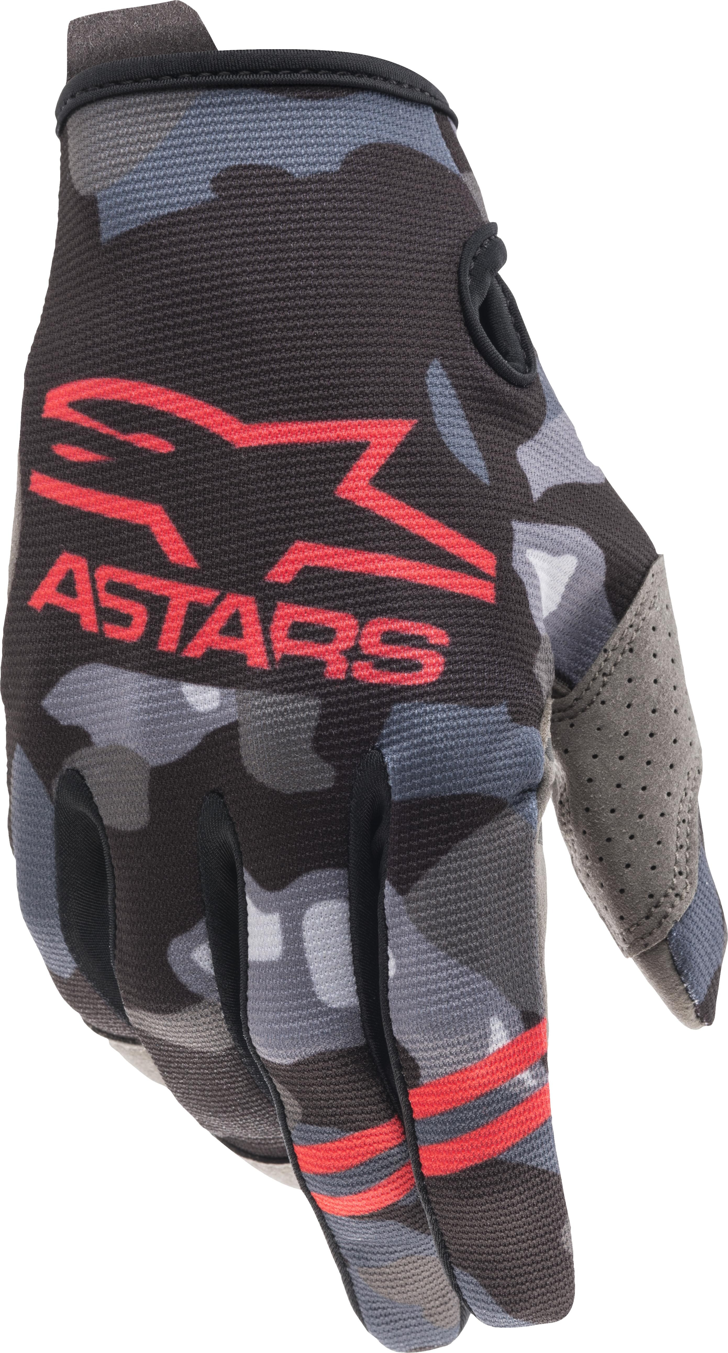 YOUTH RADAR GLOVES GREY CAMO/ RED FLUO 2XS
