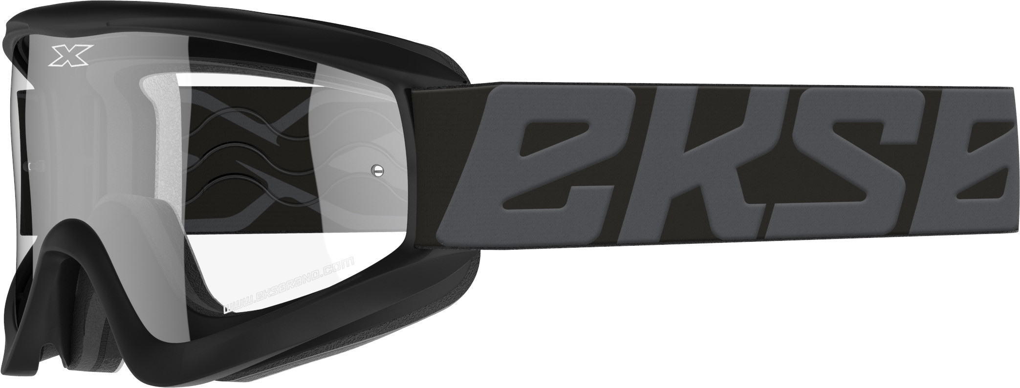 FLAT-OUT GOGGLE STEALTH BLACK W/CLEAR LENS
