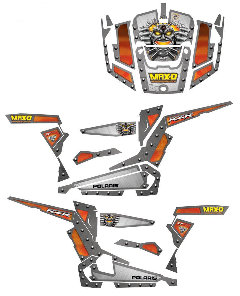 Max-D Pol 2 Door Complete Graphic Kit 862-60104